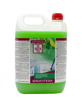 DETERGENTE BIOALCOHOL AQUAGEN 2D GREEN TEA BP 5 L