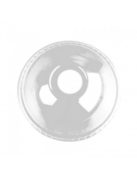 Tapa PET transparente cúpula con agujero 98 mm