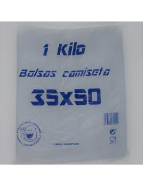 BOLSA CAMISETA 35x50 NEGRA 1KG.